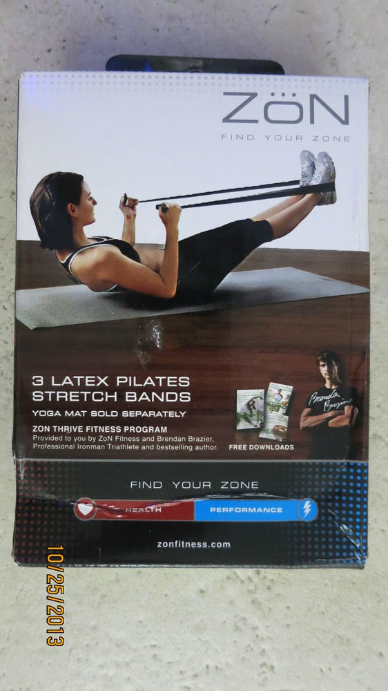 ZON 2 LATEX PILATES STRETCH BANDS exercise equipment Sport pilate band gift in