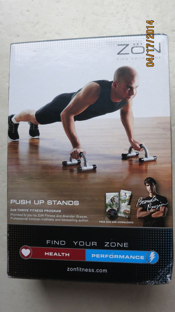 Zon Push Up Stands Excercise Thrive fitness program ZNBK-PSHSTD men Find your zo