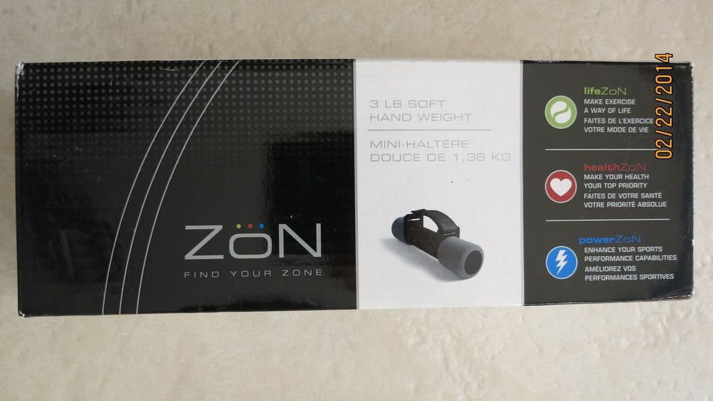 ZON SOFT HAND WEIGHT 3 LB exercise dumbbell workout yoga fitness ex/sdb3 NEW wei