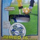 """Franklin Jumbo 16 """" Beach Ball Soccer Ball BLUE Color Pump included Flower beach"""