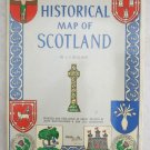 Historical Map of Scotland by L. G. Bullock printed and published in Great brita