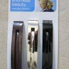 Scunci effortless beauty Thick Hair 3 pcs clip hold multi color 17924-A women NE