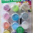 Bright Face paint Washable Makeup Costume Kit 12 pots of .18 fl oz. brush colors
