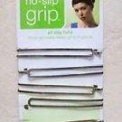 Scunci no slip GRIP all day hold hair 37040-A inner grooves keep pins 6 pcs plai