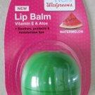 Walgreens lip balm Watermelon Vitamin E & Aloe green Sphere soothes protects NEW