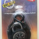 Bike Gear Cable & Lock 6250-5 NEW 6 ' Vinyl Coated Cable and Combination Padlock