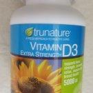 Trunature Vitamin D3 Extra Strength 500 softgels dietary Supplement 5000 IU NEW