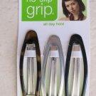 Scunci no slip grip 17843-A all day hold 3 pcs hair clip girl women fashion whit
