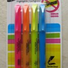 Sharpie highlighter SMEAR GUARD 27174 narrow chisel 4 colors high lighter NEW