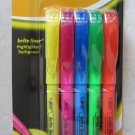 One pack of Bic Brite Liner Highlighter 90837 multi-color 5 highlighters floures