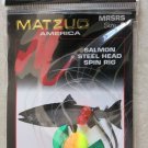 Matzuo America MRSRS size: 3 Salmon Steel Head Spin Rig Yellow green fish Hooks