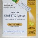 DIABETIC Direct CALCIUM Boost 20 of 1.94 g packets exp:07/2016 Lemon Flavor New