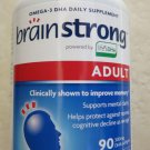 BrainStrong Adult DHA 90 Softgels 300mg supports mental clarity Omega-3 suppleme