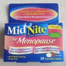 MidNite For Menopause 28 Berry Flavor Chewable Tablets Natural Soy & Herbs NEW b