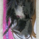 Stylin' FEATHER HAIR EXTENSIONS women highlights clip-in halloween Black clip NE