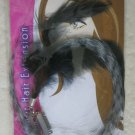 Stylin' FEATHER HAIR EXTENSIONS women highlights clip-in halloween Black grey cl