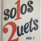 Clayton's Solos and Duets No. 1 music book church songs Norman J. Clayton paper