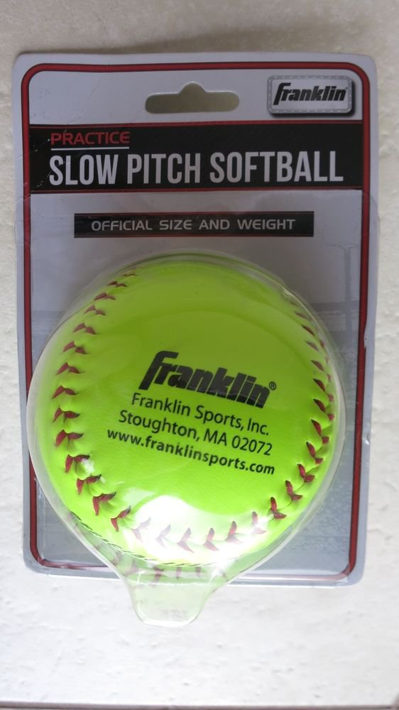 Franklin Practice Slow pitch softball Official Size and Weight 10981 Synthetic c