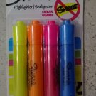 Sharpie highlighter SMEAR GUARD 25174 ( 4 assorted flourescent highlighters) NEW