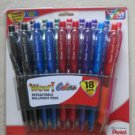Pentel Retractable Ballpoint Pens Medium Point 18-Pack Assorted Colors BK440BP18