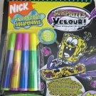 Nick Spongebob squarepants Surprizes Velour ! magic reveal velvet art book marke