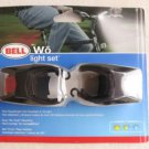 Bell Wo Light Set bicycle Twin superbright LED  headlight & Tail light rear RECT