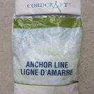 "Cordcraft Anchor Line 3/16"" x 100' Solid Braid Lylon 3/16 "" x 100 ' Light New bo"