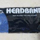 4 Unique Headbands super absorbant cotton elastic BLUE color tennis sport NEW gi