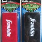 "2 packs Franklin Pro Wristbands 6"" RED & BLACK Professional (Pair pack) No 3125"