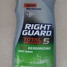Right Guard Total Defense 5 in 1 Deodorizing Refreshing Body Wash 13.5 oz NEW