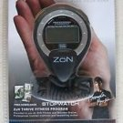 ZoN ZNBK-STWTC2 Stopwatch Lanyard Included Black 1/100th second timing alarm NEW