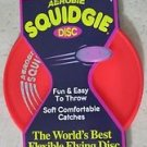 Aerobie Squidgie RED disc A22 Flexible soft comfortable catche outdoor gift NEW