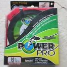 POWER PRO microfilament LINE 80 LB X 150 Vermilion Red fishing fish rounder NEW