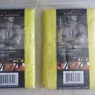 TWO Cedar Key Sport Emergency Poncho Silver 4000 raincoat rain gear yellow NEW