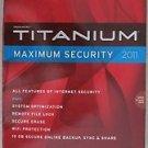 New Trend Micro Titanium Maximum Security 2011 secure erase 1 PC License wifi pr