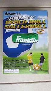 "Franklin JUMBO beach ball Soccerball 16 "" GREEN color soccer ball play 3704 NEW"
