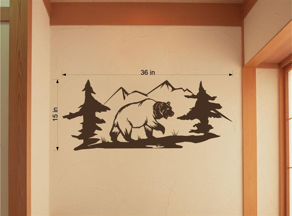 bear hunting lodge camp vinyl wall art sticker decal