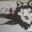 Wolf Mountains Hunting Vinyl Wall Art Sticker Decal