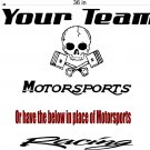 Team Name Racing enclosed Trailer Skull Vinyl Sticker Decal Graphics FREE SHIPPING!