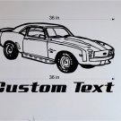 Chevy Camaro SS Auto Car Vinyl Wall Art Sticker Decal