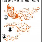 Butterfly Music Vinyl Wall Art  Stickers Decals