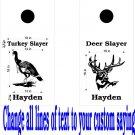 Deer Turkey Hunting Cornhole Decals Stickers B10