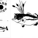Bass Fishing Hunting Cornhole Decals Stickers BA1