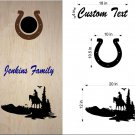 Horse Riding Equestrian Cornhole Decals Stickers H1