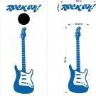Guitar Rock n Roll Cornhole Board Decals Stickers