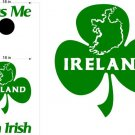 Kiss Me Im Irish Clover Cornhole Board Decals Stickers