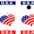 USA Patriotic US Cornhole Board Decals Stickers 2