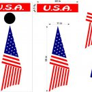USA Flag Patriotic US Cornhole Board Decals Stickers