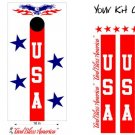 USA Patriotic US Stars Cornhole Board Decals Sticker 5