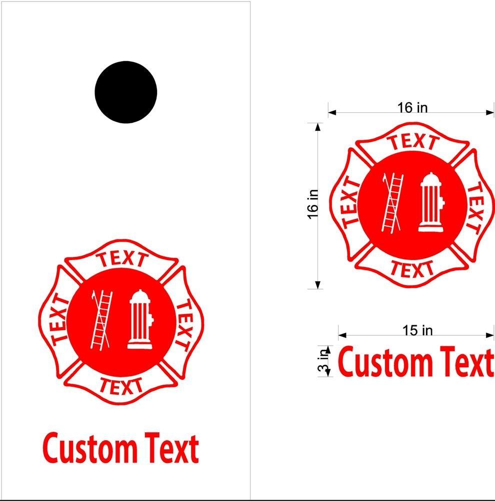 Fire Police Firemen Cornhole Board Decals Sticker 2